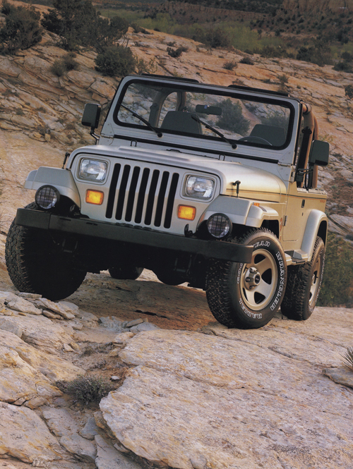 the 1992 jeep wrangler sahara jurassic jeep 65 million years in the making. Black Bedroom Furniture Sets. Home Design Ideas