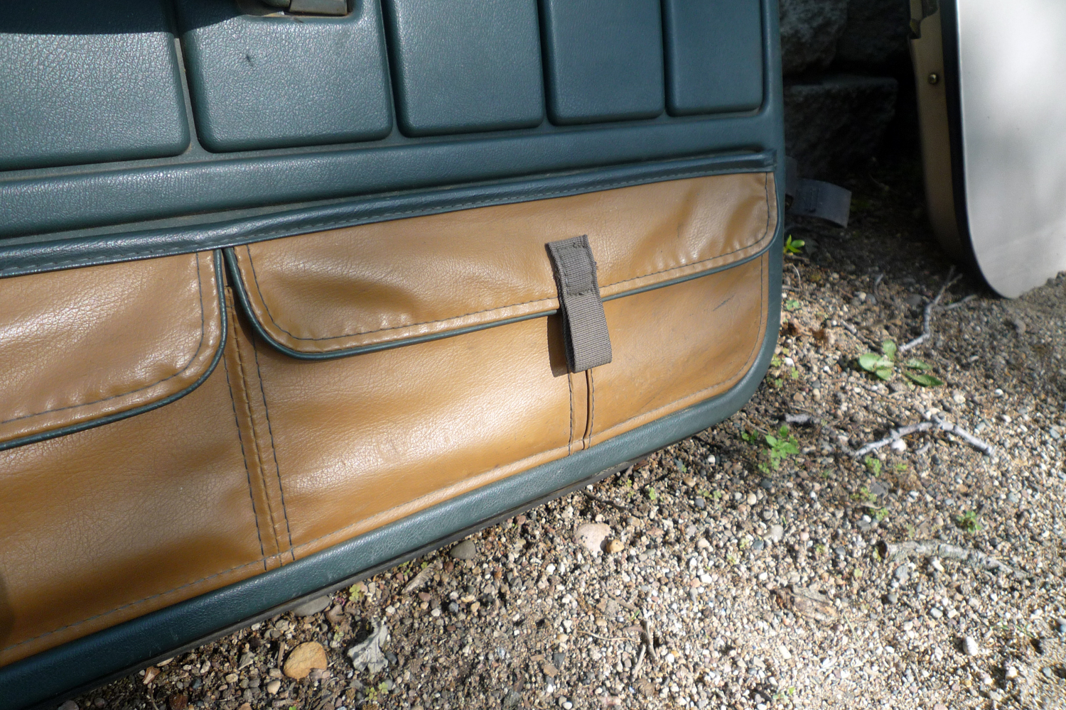 A Close Up Of Jeep Sahara Door Pouches Jurassic Jeep